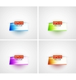 Glossy 3d shelf backgrounds vector image vector image