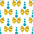 Seamless pattern cute cartoon bows-4 vector image