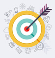 Target bullseye or arrow on target flat icon Flat vector image