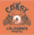 California surfing company vector image