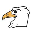 head of eagle vector image