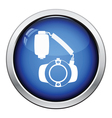 Icon of portable circle macro flash vector image