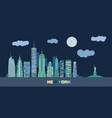 landscape of skyscrapers of night new york vector image