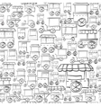 Seamless sketch pattern for street trade vector image
