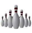 Ten bowling pins vector image