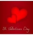two red heart for valentines day vector image