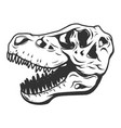 t-rex dinosaur skull isolated on white background vector image