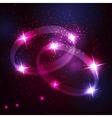 Two wedding rings beautiful bright stars vector image