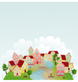 cute town vector image