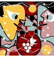 Surreal people and wine vector image vector image