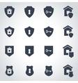 black home security icon set vector image vector image