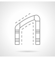 Asymmetrical arch flat line icon vector image