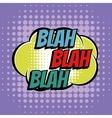 Blah comic book bubble text retro style vector image