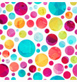 bright circle seamless pattern vector image