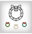 Christmas wreath isolated icon decoration vector image
