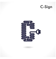Creative C letter icon abstract logo design vector image