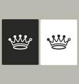 crown - icon vector image