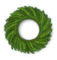green christmas wreath global colors vector image