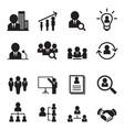 human resource management icon set vector image