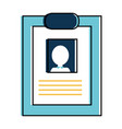 isolated cv design vector image