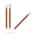 pencil with eraser set color on white vector image
