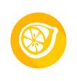 round icon of fresh lemon vector image