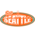 Seattle Washinton vector image