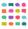 talk color bubble vector image