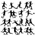 Women playing football vector image