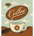 coffee landscape vector image vector image