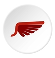 Red wing birds icon flat style vector image