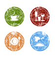 Grunge Food Labels vector image vector image