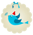 Twitter bird at Christmas time vector image