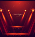 spot lights on red background vector image