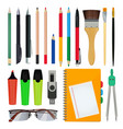 office stationery or school equipment vector image