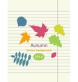 Hand drawing autumn leaf vector image