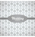 wedding seamless pattern in classic style vector image