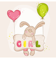 Baby Bunny with Balloons - for Baby Shower vector image
