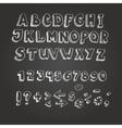 Chalk on blackboard style alphabet vector image