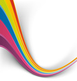 Rainbow speed wave swoosh colorful background vector image