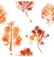 Seamless pattern with imprints of the leaves vector image