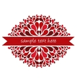 red ribbon with decoration vector image vector image