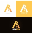 letter A logo design icon set background vector image vector image