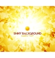 Sunshine yellow abstract background vector image vector image