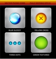 Glossy circles mobile app icons vector image vector image