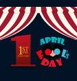 april fools day lettering design vector image