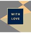 Creative card design vector image