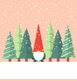 little santa claus with christmas tree vector image