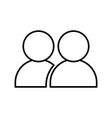 people avatar symbol vector image