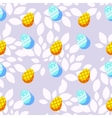 Seamless background with bright easter eggs vector image